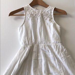 Old Navy white eyelet dress for girls